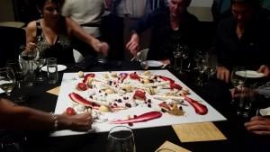 Amazing desert prepared by Radisson Executive Chef - Brent Assam