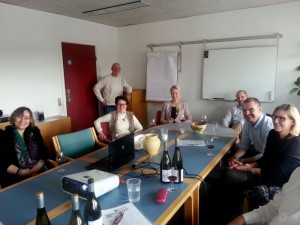 Training the team at Gastro Wines in Denmark
