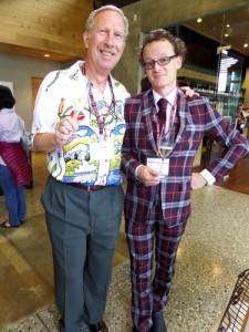Two examples of  stylish attire! Jeffrey Bragman from the US with Rockburn winemaker Malcolm Rees-Francis