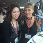 Hong Kong wine writer Rebecca Leung with Misha