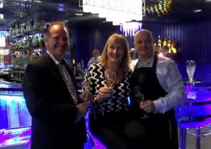 Misha & Andy with Dragan Unic at the amazing Glass Bar at Kosta Boda Art Hotel